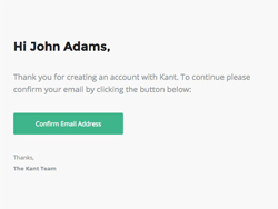 Viewing Purchase Kant Email Template Confirm Email created